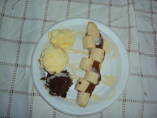platanos con helado