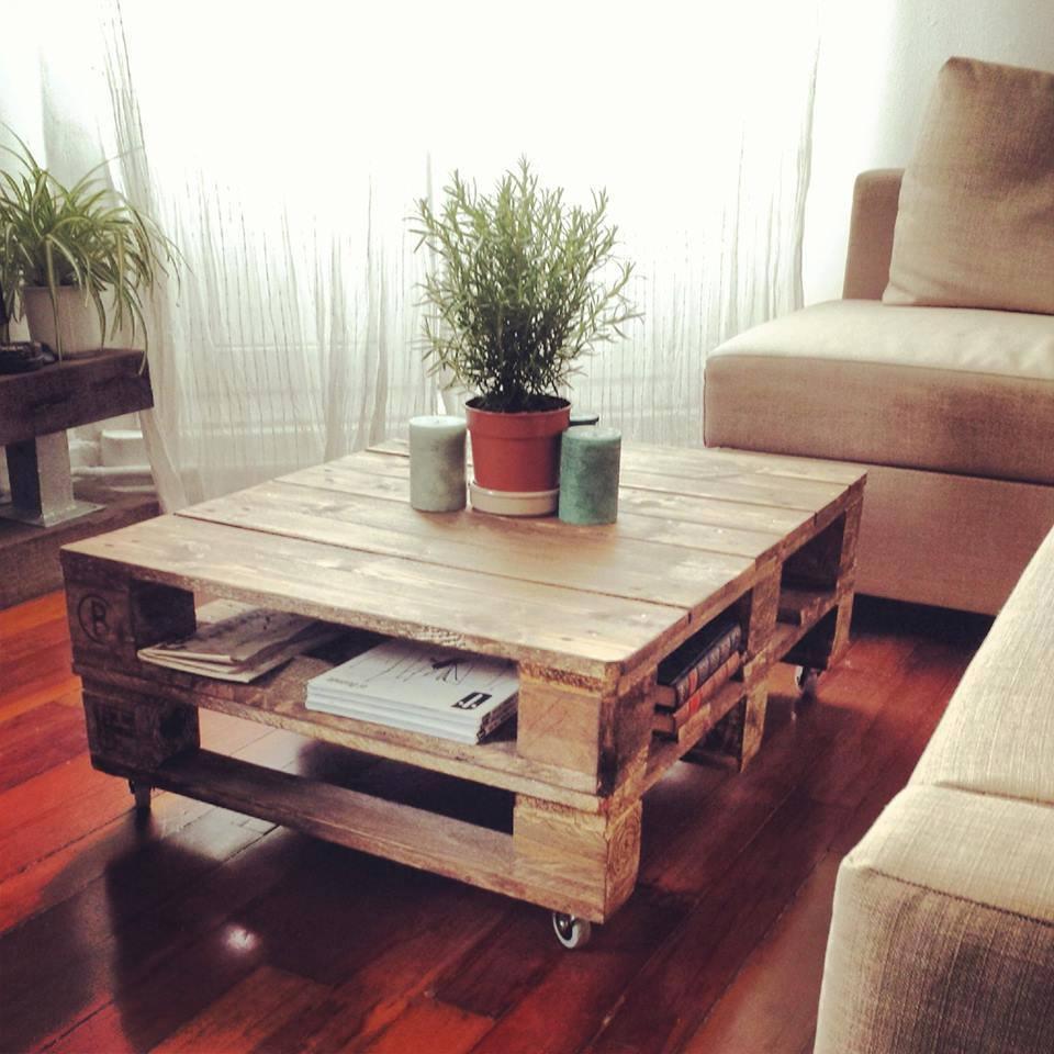 Pallets grandes ideas para fabricar muebles - Mesa centro palet ...