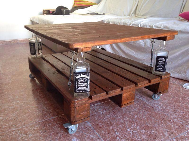 Pallets grandes ideas para fabricar muebles for Mesa de pallet
