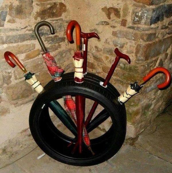 Paragua neumáticos reciclaje