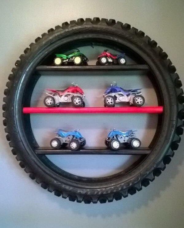 Repisa de neumático reciclaje