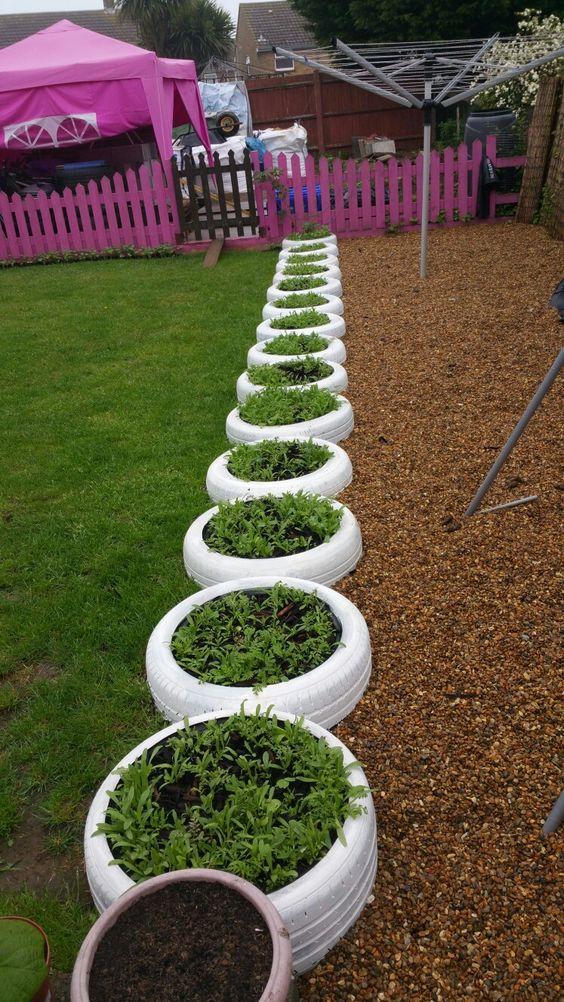 plantas en neumaticos reciclaje