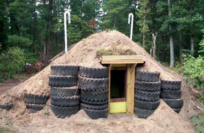 Reciclaje Guarida de neumáticos