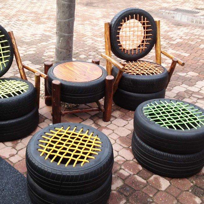 Reciclaje Asientos de neumáticos