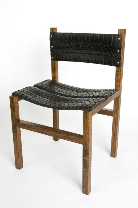 reciclaje neumatico silla
